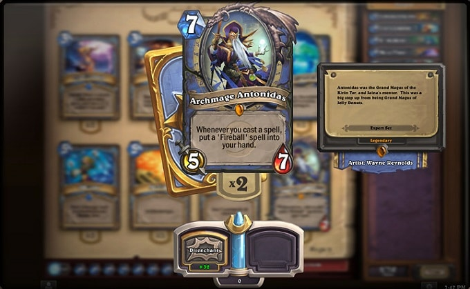 Hearthstone carta