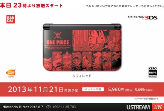 one piece 3ds