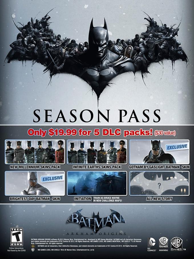 Batman Arkham Origins pase de temporada