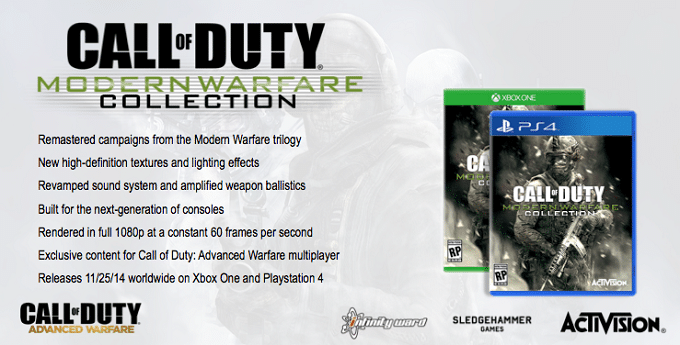 Call of Duty Modern Warfare Collection rumor