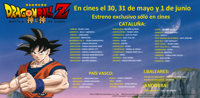 Cines_Estreno_Dragon_Ball_Z