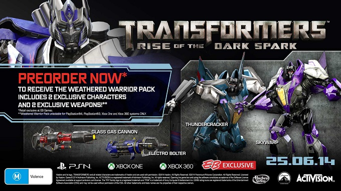 Transformers Rise of the Dark Spark reserva