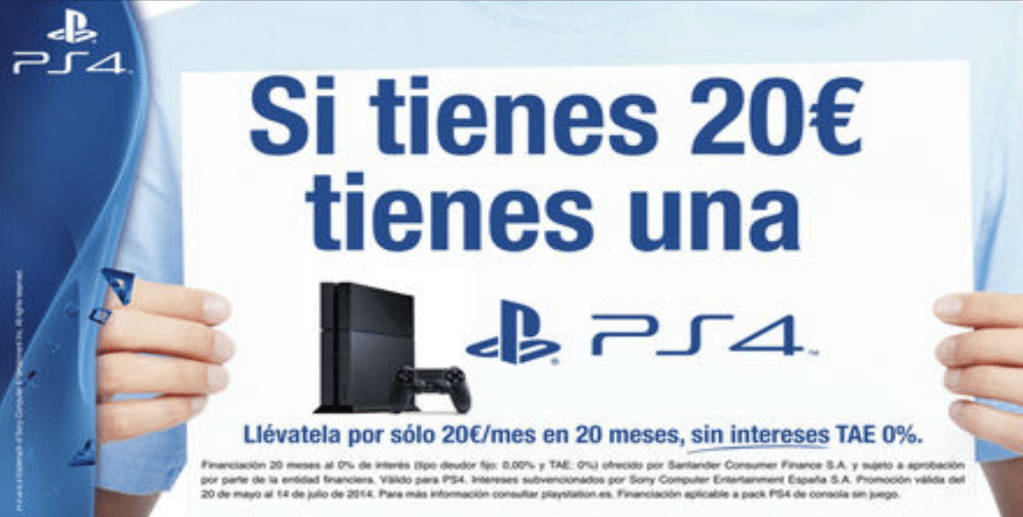 ps4 financiación