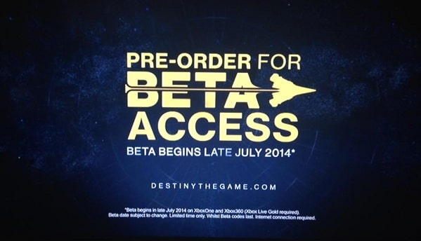 fecha beta destiny xbox 360 y xbox one