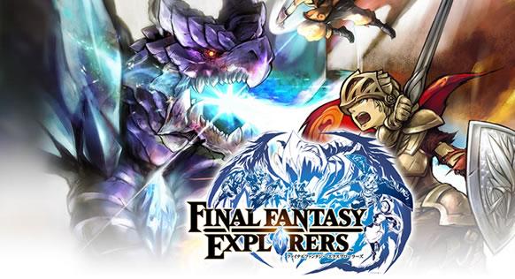 Final Fantasy Explorers presenta al mago negro, el monje y el caballero