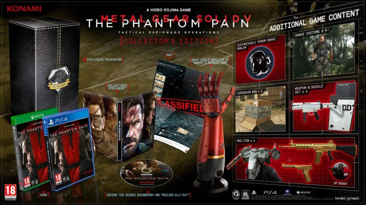 Metal Gear Solid V: The Phantom Pain revela su edición coleccionista