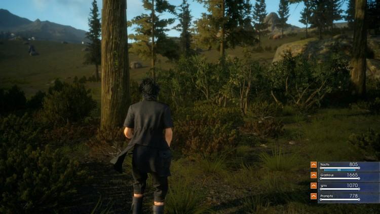 Encuentra al Chocobo negro en Final Fantasy XV: Episode Duscae