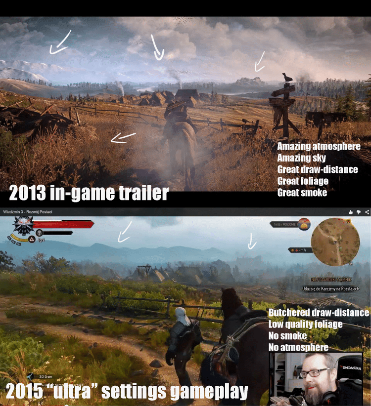 The Witcher 3: Wild Hunt y su downgrade reconocido por sus creadores