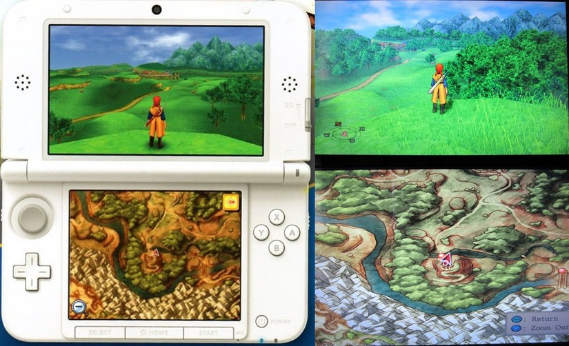 Comparativa gráfica de Dragon Quest VIII en PS2 y 3DS