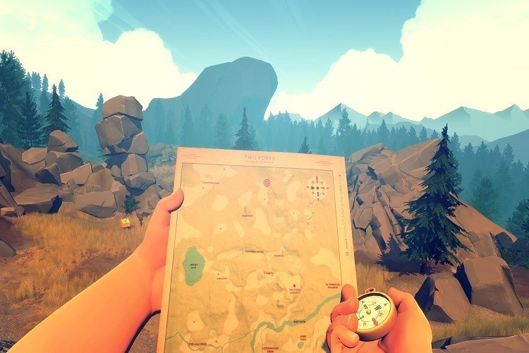 Firewatch imprime mapa hd