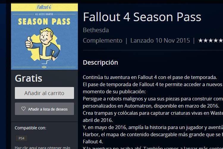 fallout 4 season pass gratis