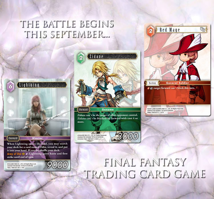 final fantasy trading card game lanzamiento europa