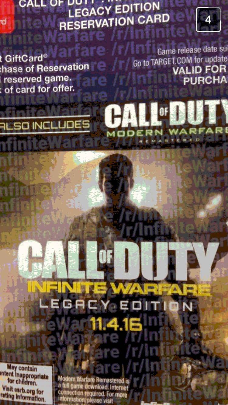 Call of Duty: Infinity Warfare vendrá con Modern Warfare en su Edición Legacy, según un nuevo rumor
