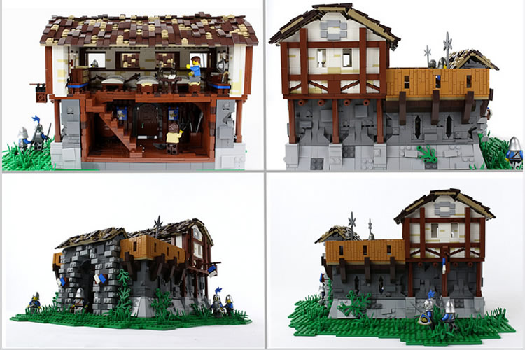 age of empires LEGO barracas interior