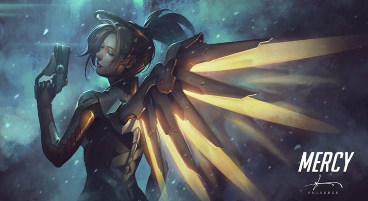 overwatch fa art mercy oscura