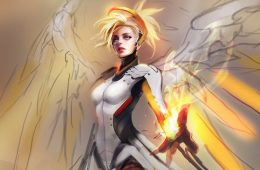 overwatch fan art mercy muju