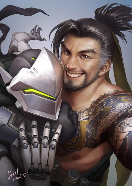 overwatch fan art shimada