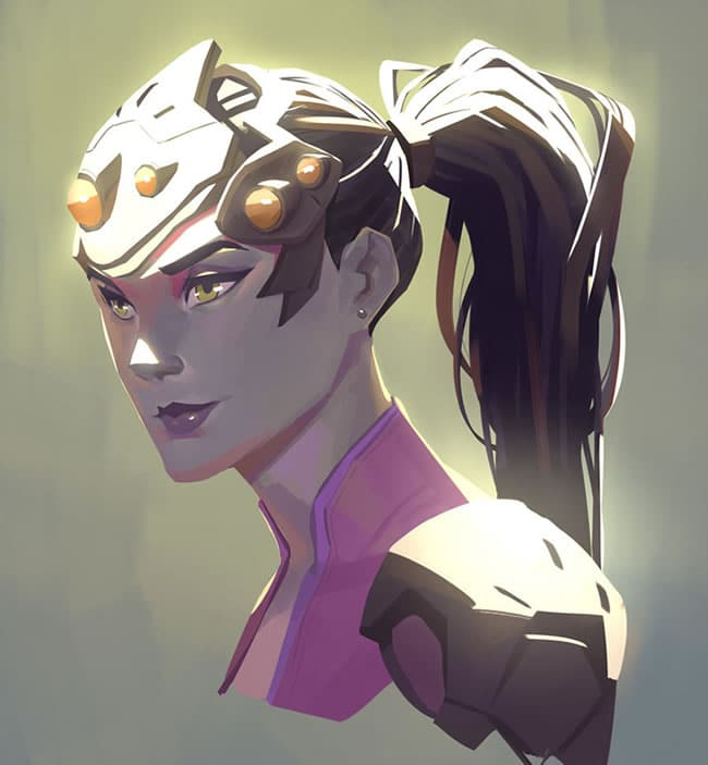 overwatch fan art widowmaker