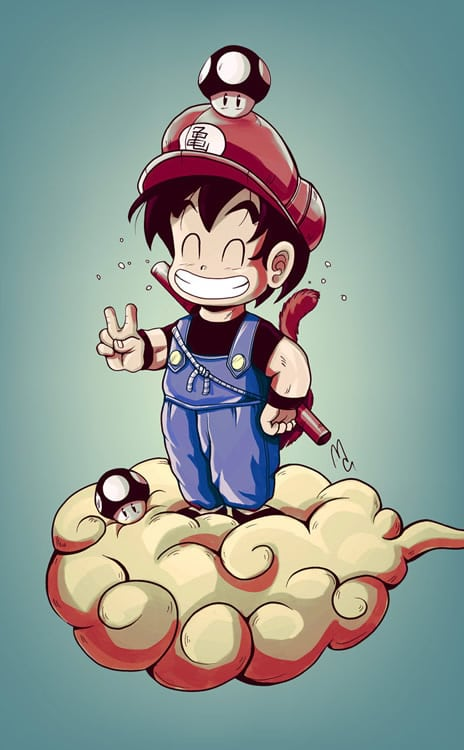super mario bros goku anime