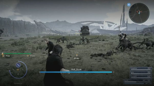 Final Fantasy XV tendrá modo espera