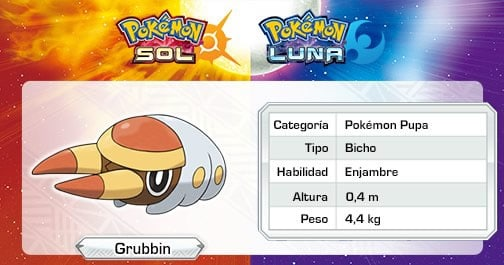 pokemon sol pokemon luna grubbin
