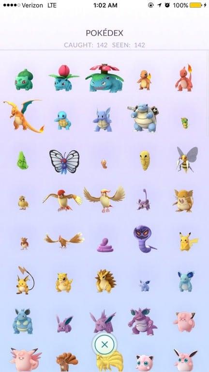pokemon capturados
