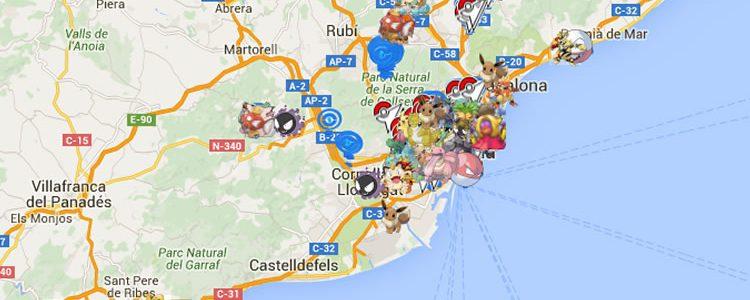 pokemon go mapa cataluña