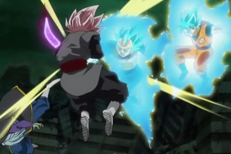 dragon ball super black goku y vegeta contra black y zamasu