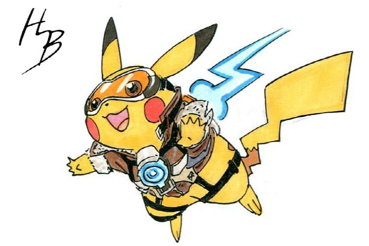pokemon-vs-overwatch-pikachu-tracer