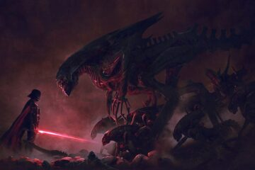 Star Wars vs Aliens Darth Vader
