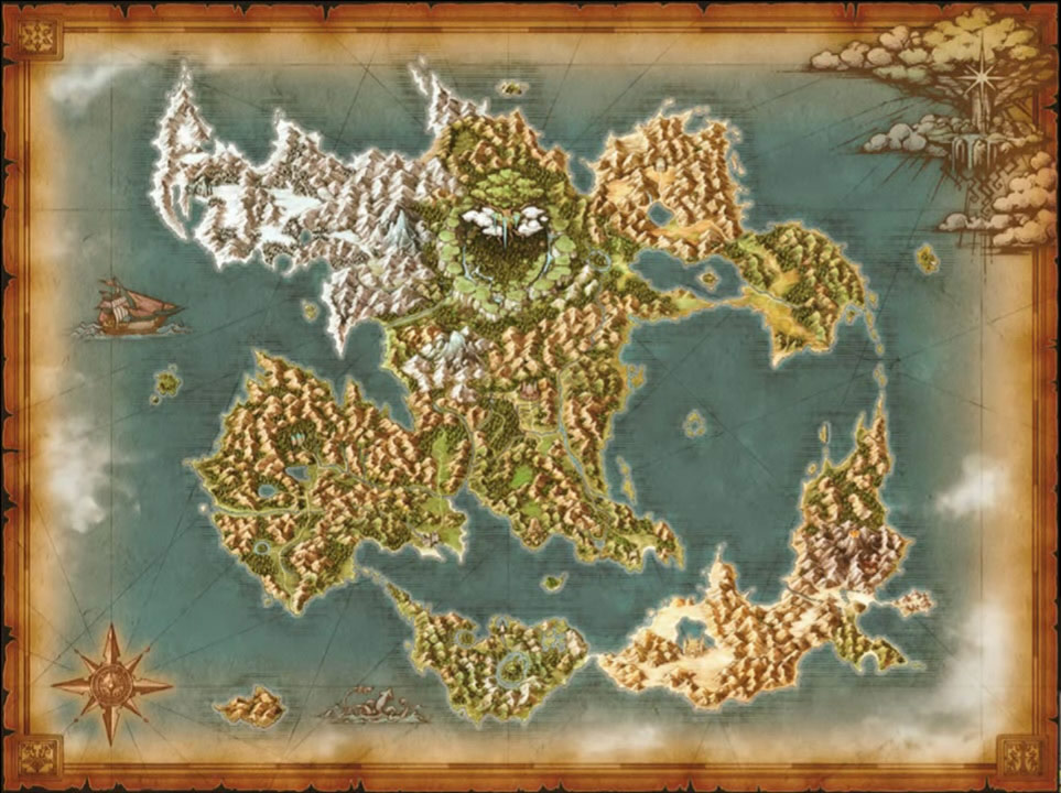 dragon quest xi mapa del mundo