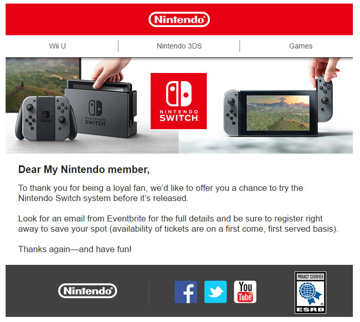 nintendo switch invitación