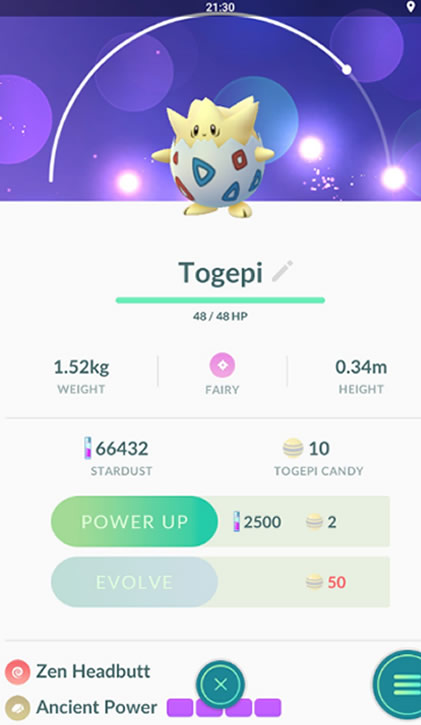 pokémon go togepi