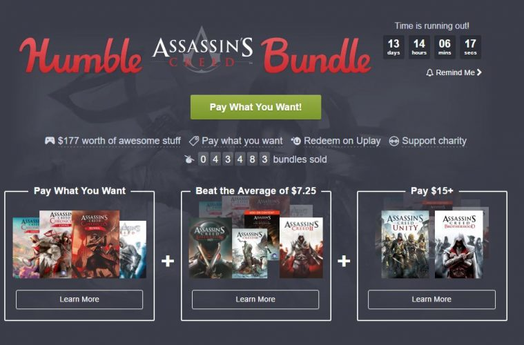 Assassin's Creed protagoniza un Humble Bundle muy completo