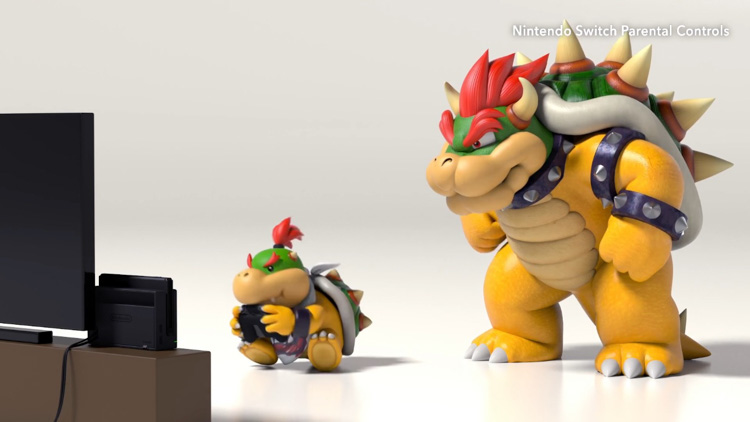 Nintendo Switch, Bowser y Bowsy nos muestran su control parental