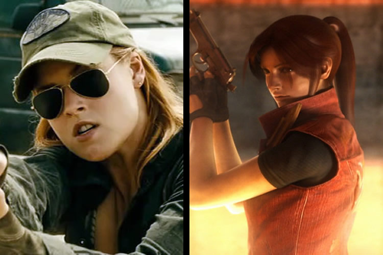 resident evil personajes pelicula vs claire