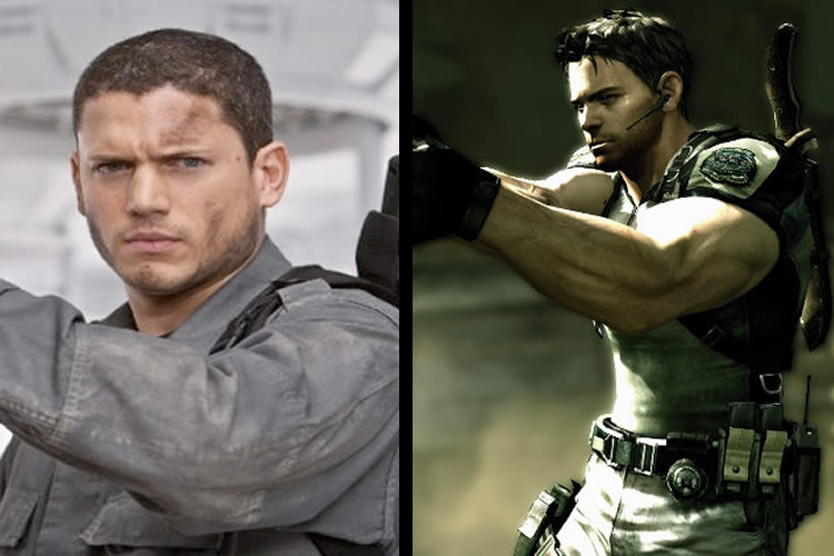 resident evil personajes pelicula vs juego chris redfield