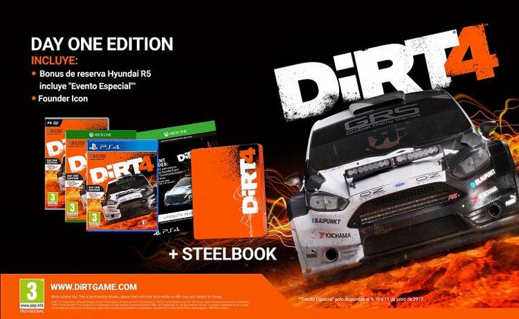 Dirt 4 ediciones especiales