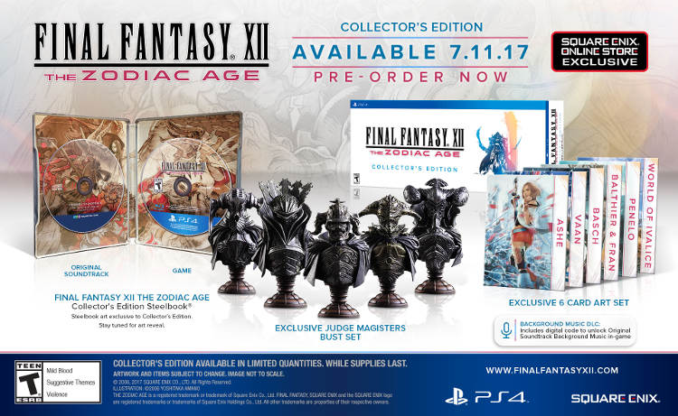 final fantasy xii the zodiac age ediciones especiales