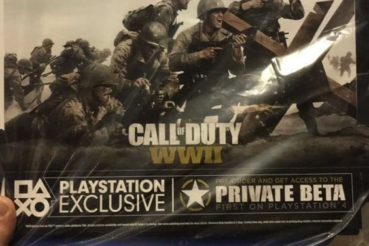 beta de call of duty ww2