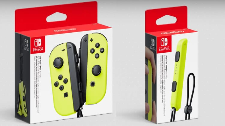 joy-con amarillo neón
