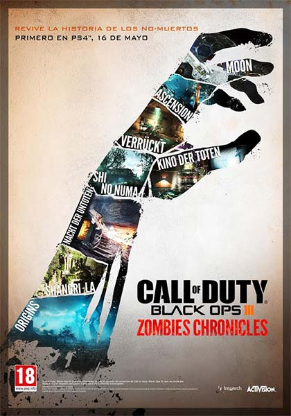 dlc de call of duty: black ops iii zombies chronicles