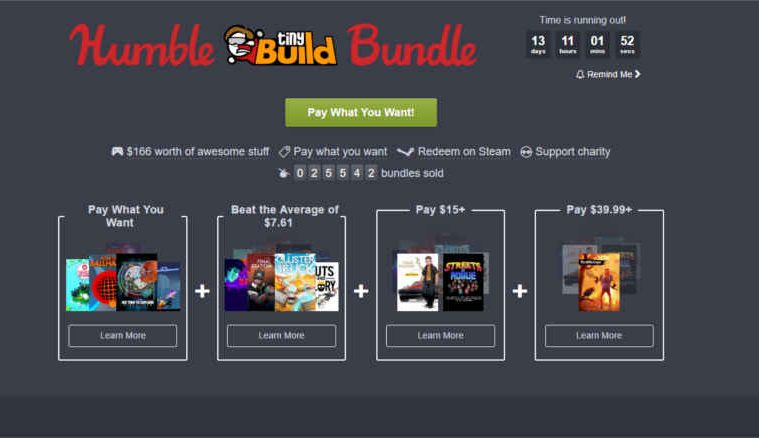 humble bundle tinybuild