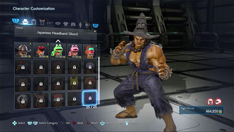 modo personalización de Tekken 7