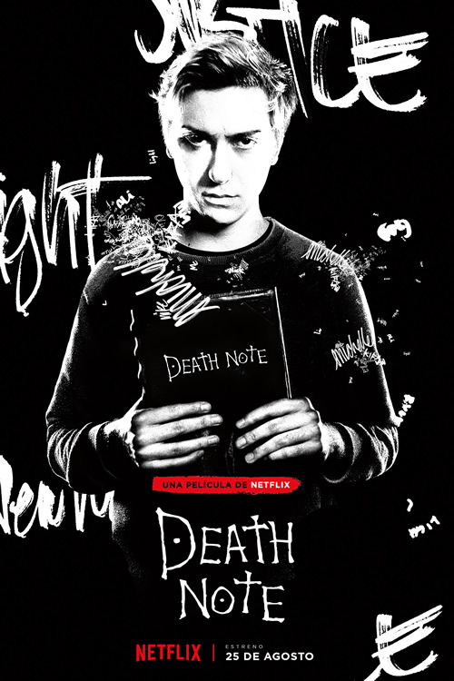 posters de personajes de death note light turner kira
