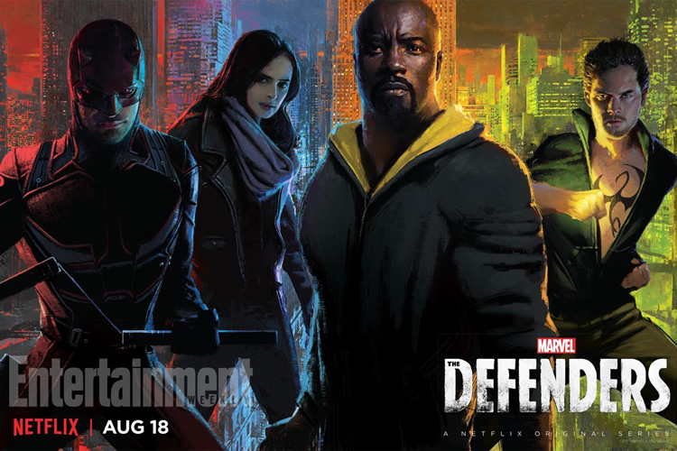 trailer de the defenders de la comic-con poster