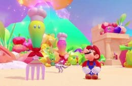 Super Mario Odyssey presenta Luncheon Kingdom
