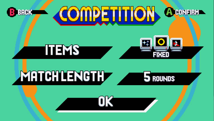 competition mode de sonic mania items