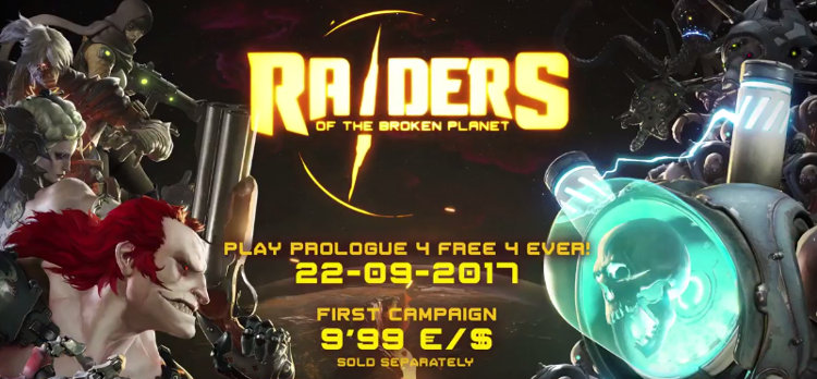 fecha de raiders of the broken planet