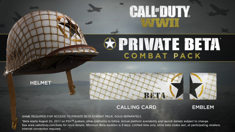 recompensas de la beta de call of duty wwii